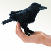 Folkmanis Fingerpuppe Vogel, mini Rabe 2698