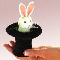 Folkmanis Fingerpuppe mini Hase im Hut 2709