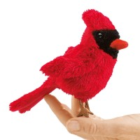 Folkmanis Fingerpuppe Vogel, mini Kardinalsvogel 2743