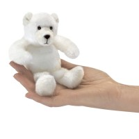 Folkmanis Fingerpuppe Mini Eisbär 2770