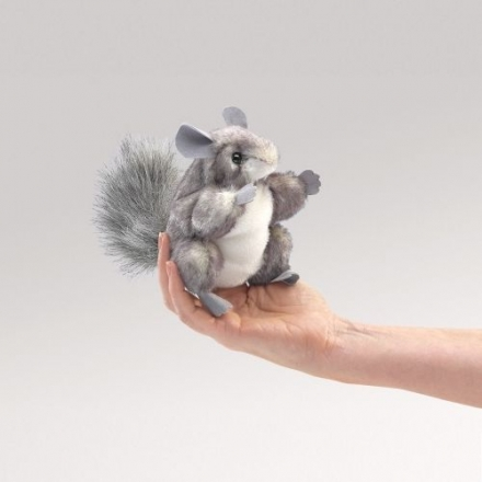 Folkmanis Fingerpuppe Mini Chinchilla 2759